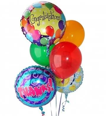 3 Birthday Mylar Balloons 3 Latex Balloons Bb 3hbd3lb In Arlington Va Twin Towers Florist