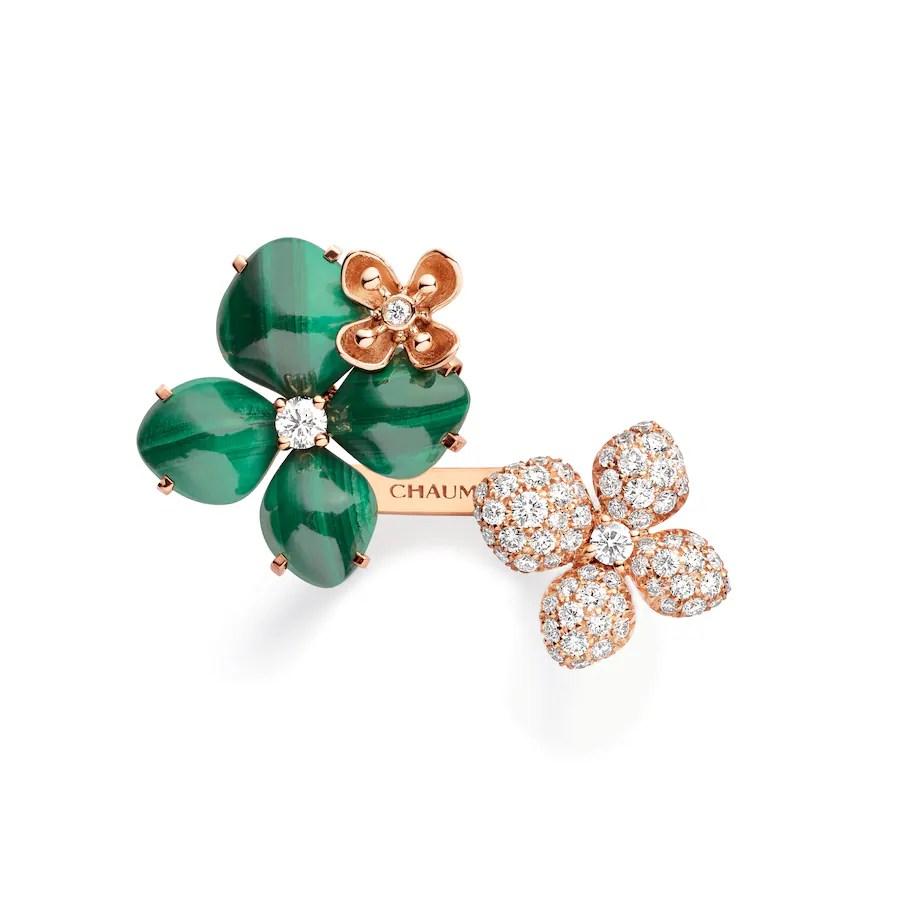 "Hortensia ""Eden"" ring - Pink Gold - Chaumet"