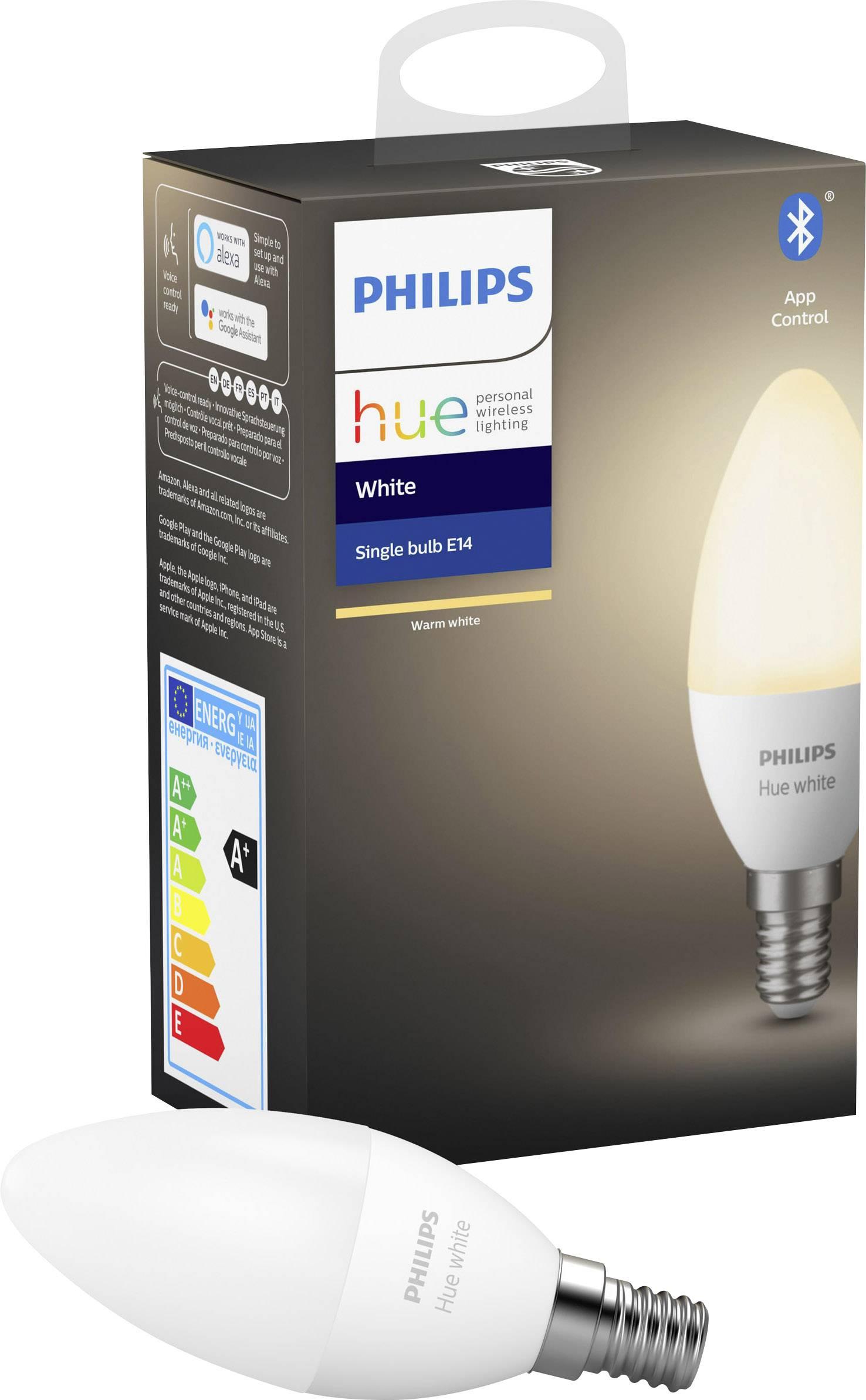 philips lighting hue led light bulb single 929002039901 eec a a e white e14 5 5 w warm white