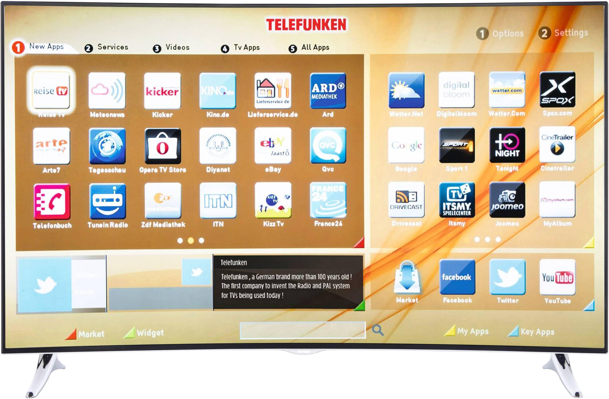 telefunken c55u320n4cw 3d led tv 140 cm 55 inch dvb t2 dvb c dvb s uhd curved 3d smart tv wi fi ci black