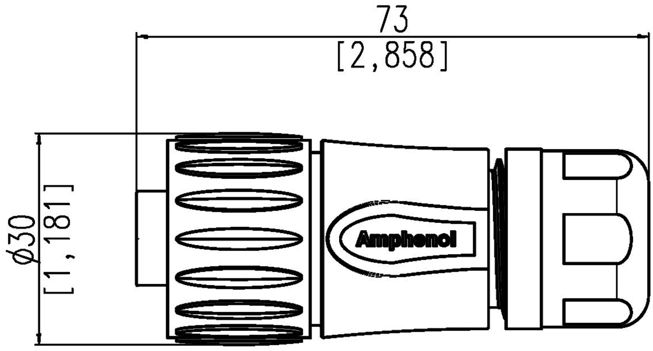 Amphenol C016 30h006 110 10 Straight Cable Plug C16 1