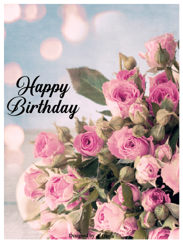 Bouquet Happy Birthday For Her Cards Birthday Greeting Cards By Davia