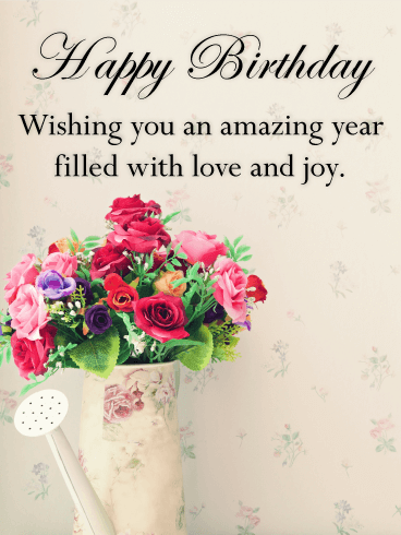 Vintage Flower Bouquet Happy Birthday Card Birthday Greeting Cards By Davia