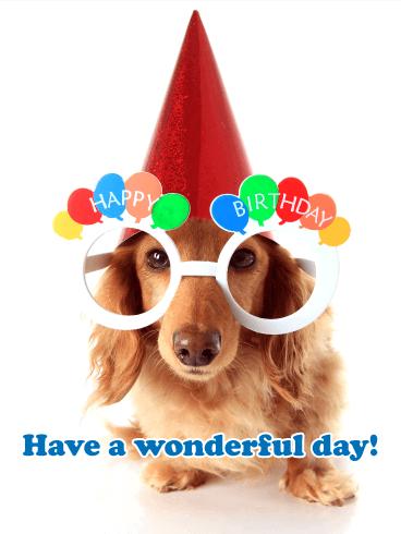Cute Puppy Happy Birthday Card Birthday Greeting Cards By Davia