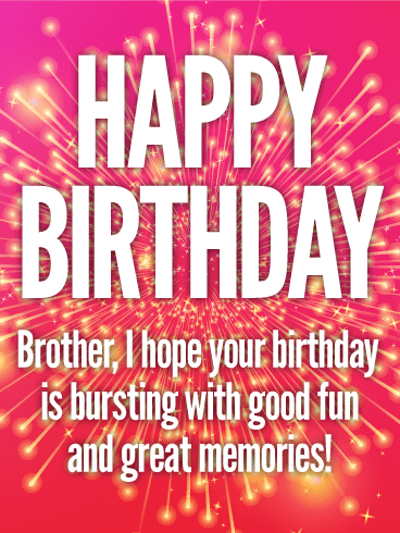 Stunning Happy Birthday Card For Brother Birthday Greeting Cards By Davia