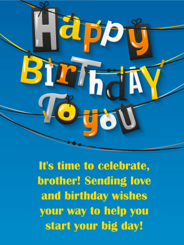 Sending Love Happy Birthday Card For Brother Birthday Greeting Cards By Davia