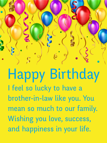 Celebrating You Happy Birthday Card For Brother In Law Birthday Greeting Cards By Davia