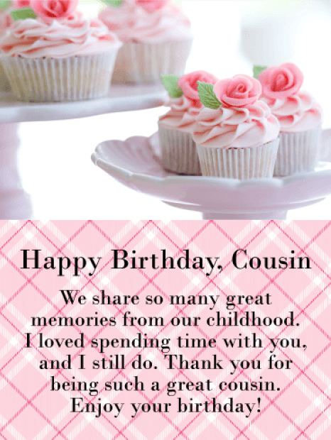 Happy Birthday Cousin Messages with Images - Birthday Wishes and Messages by Davia
