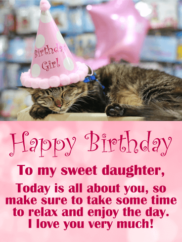 Sending My Love Happy Birthday Card For Daughter Birthday Amp Greeting Cards By Davia