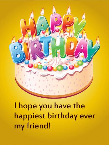 Happy Birthday Cake Card For Friends Birthday Greeting Cards By Davia