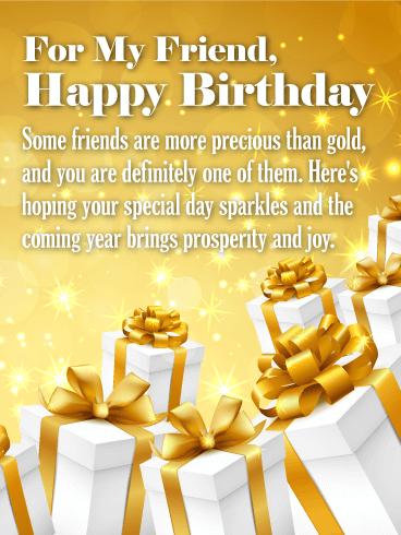 Happy Birthday To My Precious Friends Card Birthday Greeting Cards By Davia