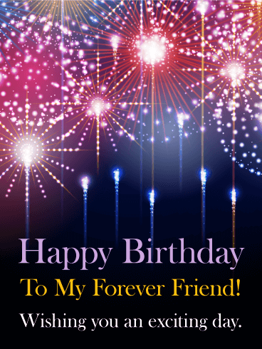 Exciting Day Happy Birthday Card For Friends Birthday Greeting Cards By Davia