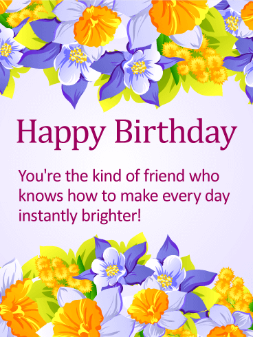 Delightful Happy Birthday Card For Friends Birthday Greeting Cards By Davia