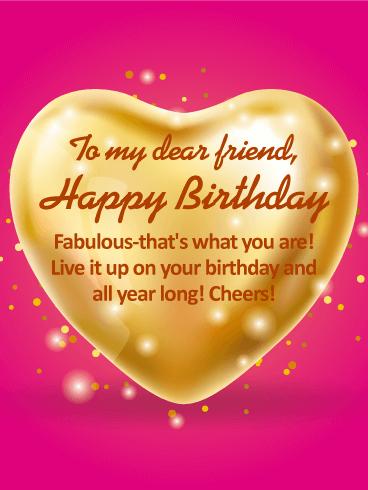 Happy Birthday To My Dear Friend Card Birthday Greeting Cards By Davia
