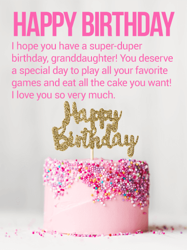 Birthday Cake Cards For Granddaughter Birthday Greeting Cards By Davia Free Ecards
