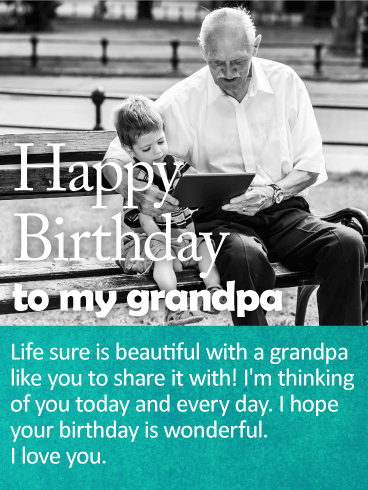 Im Thinking Of You Happy Birthday Wishes Card For Grandpa Birthday Amp Greeting Cards By Davia
