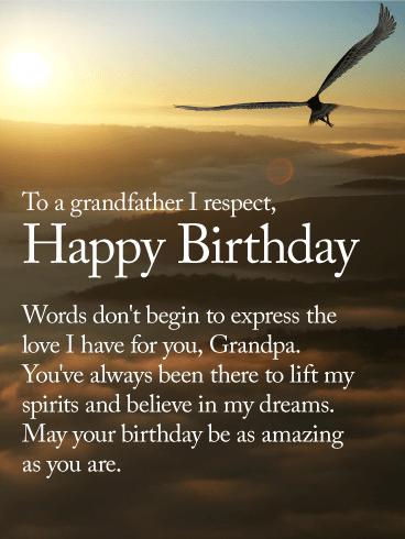 To An Amazing Grandpa Happy Birthday Wishes Card Birthday Greeting Cards By Davia