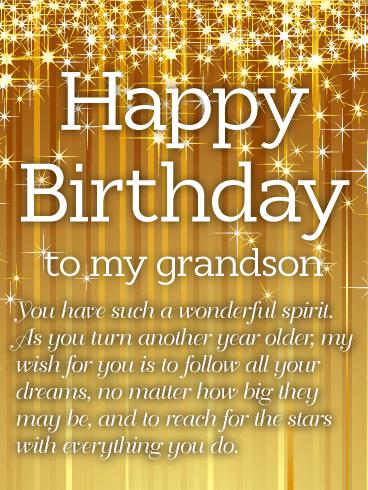 Sparkle Birthday Cards For Grandson Birthday Greeting Cards By Davia Free Ecards