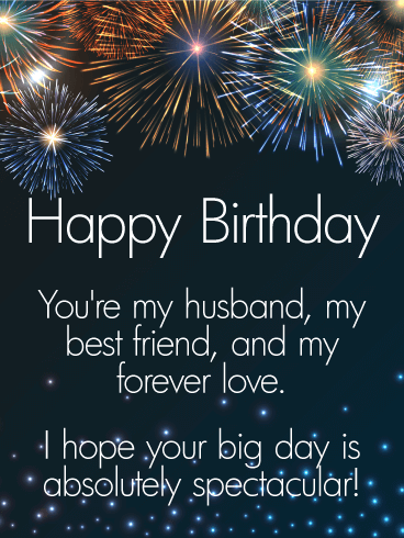To My Forever Love Happy Birthday Wishes Card For Husband Birthday Greeting Cards By Davia