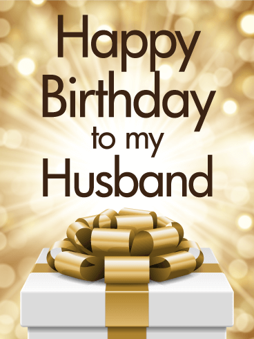 Golden Happy Birthday Card For Husband Birthday Greeting Cards By Davia