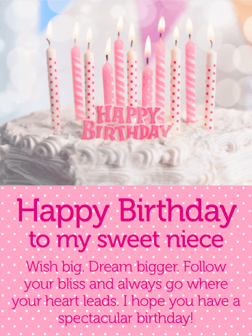 Have A Spectacular Day Happy Birthday Wishes Card For Niece Birthday Greeting Cards By Davia