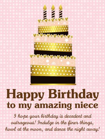 To A Fabulous Niece Happy Birthday Wishes Card Birthday Greeting Cards By Davia