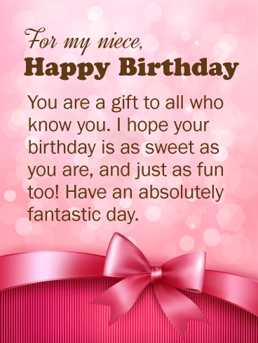 Birthday Wishes For Niece Birthday Wishes And Messages By Davia
