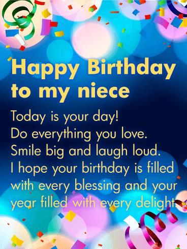 Sparkle Birthday Cards For Niece Birthday Greeting Cards By Davia Free Ecards