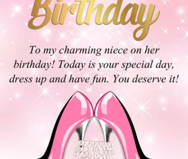 To My Charming Niece Happy Birthday Card