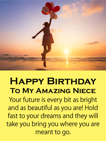 Hold Fast To Your Dream Happy Birthday Card For Niece Birthday Greeting Cards By Davia