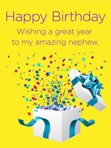 Full Of Surprise Happy Birthday Card For Nephew Birthday Greeting Cards By Davia