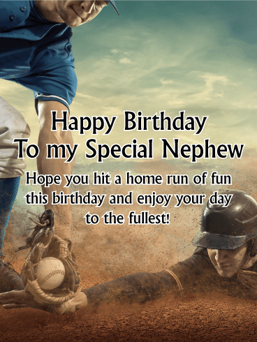 Football Happy Birthday Card For Nephew Birthday