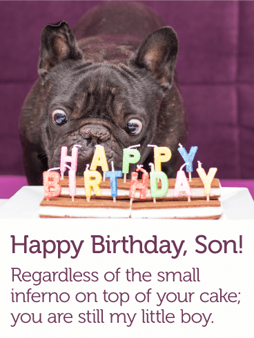 To My Little Boy Happy Birthday Card For Son Birthday Greeting Cards By Davia