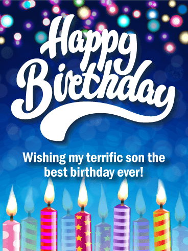 Have The Best Birthday Ever Happy Birthday Card For Son Birthday Greeting Cards By Davia