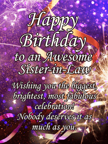 Happy Birthday Sister In Law Messages With Images Birthday Wishes And Messages By Davia