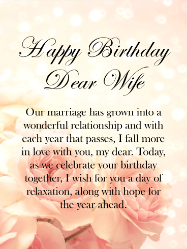 Falling More In Love With You Happy Birthday Card For Wife Birthday Greeting Cards By Davia
