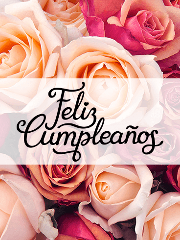 Happy Birthday Flower Card In Spanish Feliz Cumpleanos Birthday Greeting Cards By Davia
