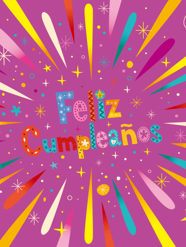 Happy Birthday Card For Kids In Spanish Feliz Cumpleanos Birthday Greeting Cards By Davia