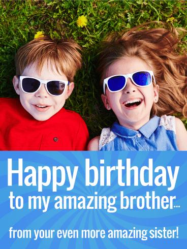 I Love My Brother Funny Birthday Card Birthday Greeting Cards By Davia