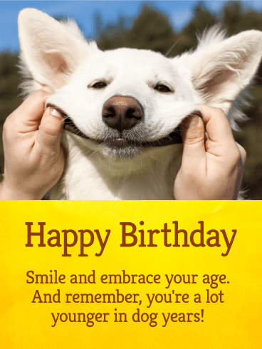 Let S Smile Funny Birthday Card Birthday Greeting Cards By Davia