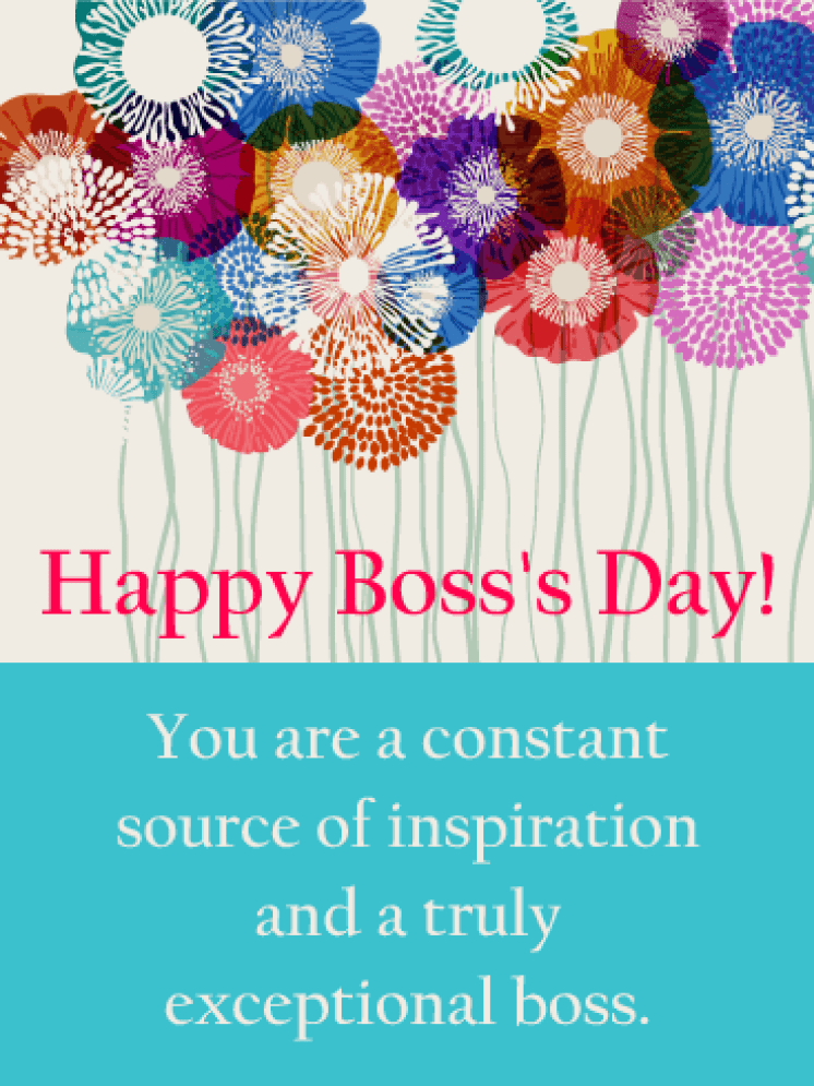 You are my Inspiration! Happy Boss's Day Card | Birthday & Greeting Cards  by Davia