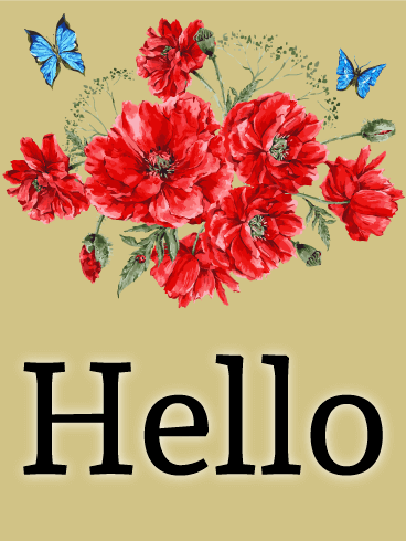 Hello Greeting Card Birthday Amp Greeting Cards By Davia