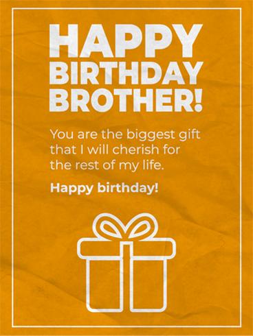 Cherish Him Birthday Card For Brother Birthday Greeting Cards By Davia