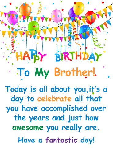 You Re Awesome Happy Birthday Card For Brother Birthday Greeting Cards By Davia