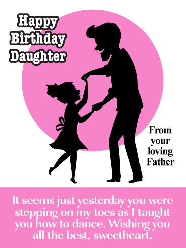 Add Color To My Life Happy Birthday Card For Daughter From Father Birthday Greeting Cards By Davia