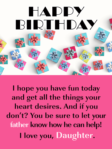 Birthday Gift Box Cards For Daughter Birthday Greeting Cards By Davia Free Ecards