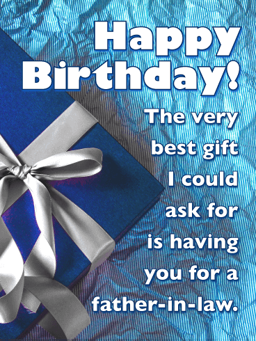 Birthday Gift Box Cards For Father In Law Birthday Greeting Cards By Davia Free Ecards