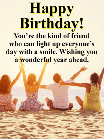 Light Up The Day Happy Birthday Card For Friends Birthday Greeting Cards By Davia