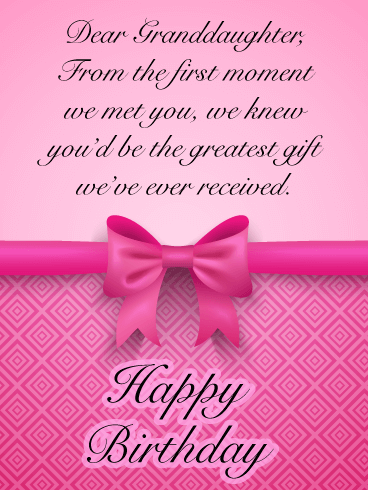 The Greatest Gift Happy Birthday Cards For Granddaughter Birthday Greeting Cards By Davia