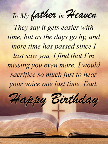 Hearing Your Voice Happy Birthday Card For Father Heaven Birthday Greeting Cards By Davia